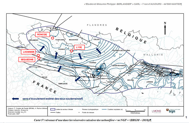 EMPB - • Sens et forces d'écoulements d'eaux souterraines - Etudes et Mesures Philippe BERLANDIER