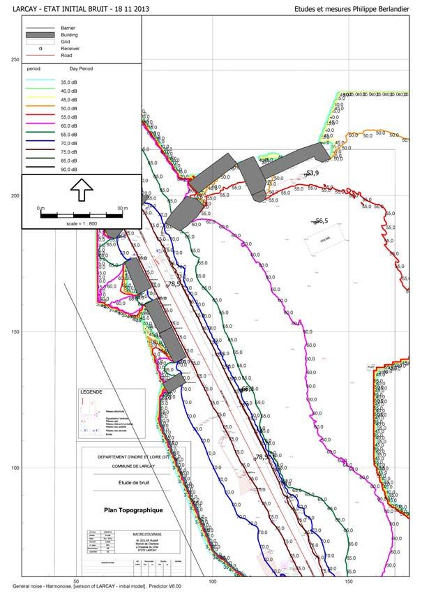 Modélisation de la propagation sonore 44 proche Nantes - EMPB SARL Philippe BERLANDIER